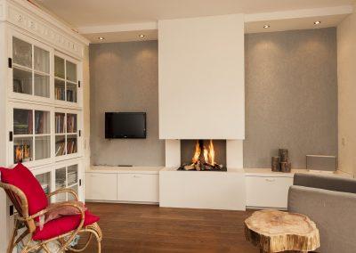 Open gashaard met meubel